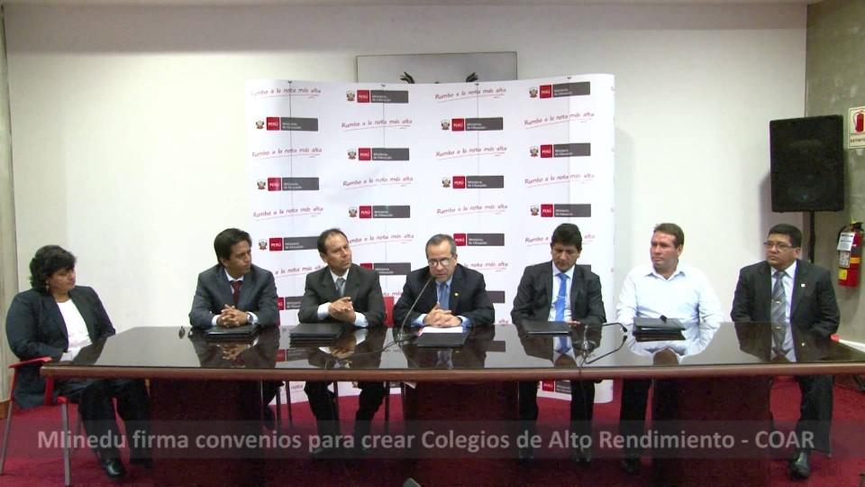 MINISTERIO DE EDUCACIÓN IMPLEMENTARÁ SEIS NUEVOS COLEGIOS DE ALTO RENDIMIENTO