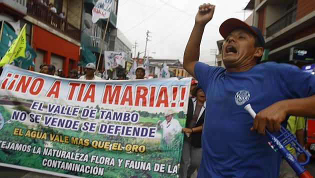 TÍA MARÍA: REINICIAN MARCHAS DE PROTESTA CONTRA PROYECTO