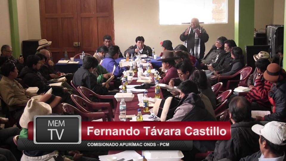 CONFORMAN COMITÉ DE MONITOREO Y VIGILANCIA AMBIENTAL DE PROVINCIA DE COTABAMBAS
