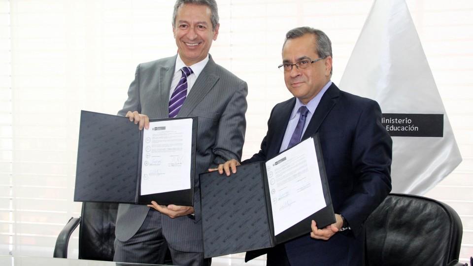 MINEDU Y RED DE ENERGÍA DEL PERÚ FIRMAN CONVENIO DE OBRAS POR IMPUESTOS PARA ICA