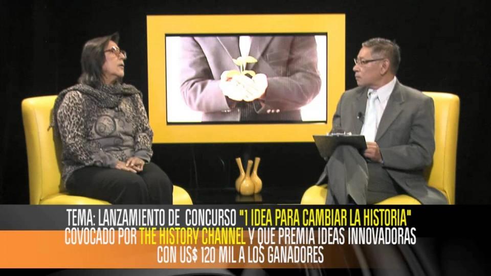 DRA. LUZ GÓMEZ PANDO, JUEZ PERÚ EN «1 IDEA PARA CAMBIAR LA HISTORIA» DE HISTORY CHANNEL