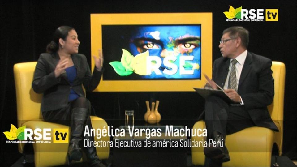 ENTREVISTA A ANGÉLICA VARGAS MACHUCA, DIRECTORA EJECUTIVA DE AMÉRICA SOLIDARIA PERÚ