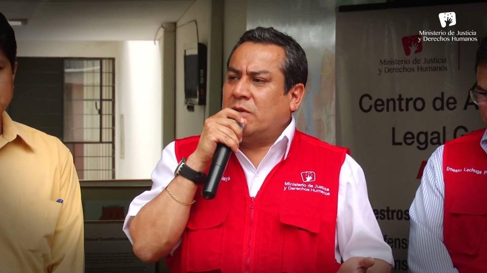 MINISTRO GUSTAVO ADRIANZÉN INAUGURO OFICINAS DEL MINJUS EN EL VRAEM