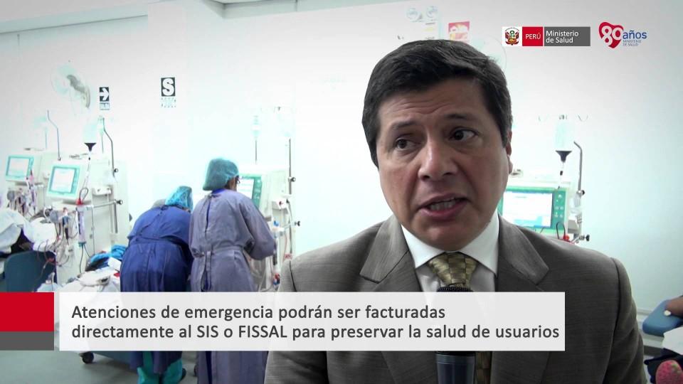 VICEMINISTRO GRILLO: SIS GARANTIZA ATENCIÓN A LOS PACIENTES DE HEMODIÁLISIS