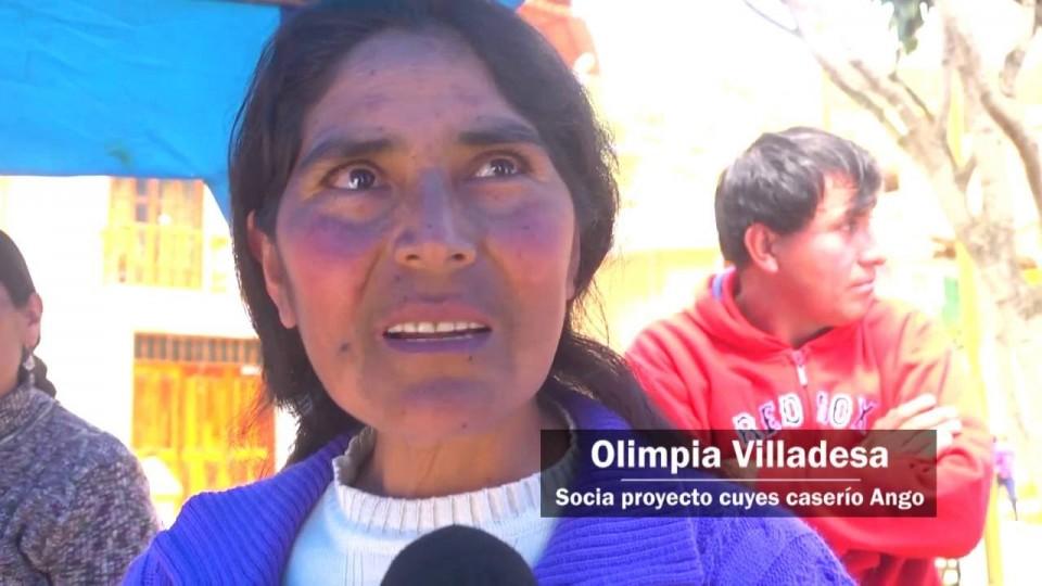 ANTAMINA: PRESENTAN PROYECTOS  CUYES DE CARASH Y PAPAS DE MOSNA EN SAN MARCOS